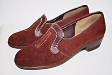Lotus Fashion Designer Ladies Woman's Burgundy Red 100% Leather Suede Boots 5