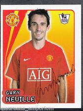Merlin Football- 2008 Premier League Sticker No 377 - Gary Neville - Man Utd