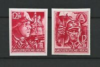 DR Nazi WWII Germany RARE WW2 U Stamps Hitler SA Man SS Man Party Formation 1945