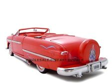1949 FORD CONVERTIBLE RED 1:24 DIECAST MODEL CAR BY UNIQUE REPLICAS 18582