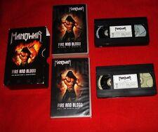 MANOWAR / Fire and Blood - RARE ORIGINAL 2x VHS Set Germany 2002 SPV