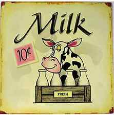 Milk (cow) rusted metal sign (41)