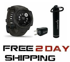 Garmin Instinct Rugged GPS Watch Wearable4U Power Bundle Graphite 010-02064-00