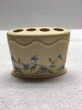 Martha Stewart Everyday Toothbrush Holder Yellow Daisies Floral Ceramic