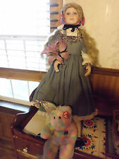 "Thelma Resch Goldilocks 32"" tall porcelain doll"