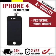 A+ LCD VITRE TACTILE DISPLAY/SCHERM/ÉCRAN BLACK NOIR & VERRE TREMPÉ FOR IPHONE 4