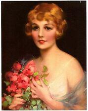 "1930s Glamour Girl art deco print 7"" x 9"" Ӝ"