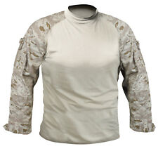 combat shirt desert digital camo tactical style various sizes rothco 90020