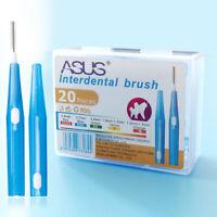 ASUS 20 pezzi / scatola 0.7 mm regolabile spazzolino da denti spazzolino in J6W8