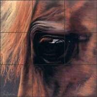 Tile Mural Backsplash Ceramic McElroy Horse Equine Art KMA049