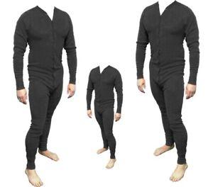 Long John Western Unterwäsche schwarz Einteiler Baumwolle Cowboy Unterhose