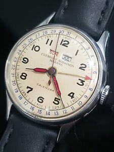 Vintage Cuervo Y Sobrinos Triple date Calendar Venus Cal. 203 Men's Watch