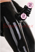 Latex trousers With Attached Condom Men Sexy Rubber Leggings Penis Sheath