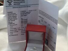 14k white gold diamond engagement ring IGI certified