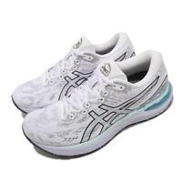 Asics Gel-Cumulus 23 White Grey Blue Women Running Jogging Shoes 1012A888-100