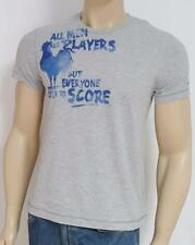 American Eagle Outfitters AEO All Men Are Players Gray T-Shirt New NWT Mens S