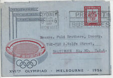 Australia: 1957,3,19 aerogramme for 1956 Olympics (H&G Fg8), Sydney to Baltimore