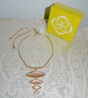 """NWT $150 Kendra Scott Gold Dust """"Morris"""" Rose Goldtone Necklace Adjustable"""