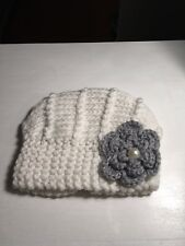 Handmade White Knitted Baby Hat OS New w/tags