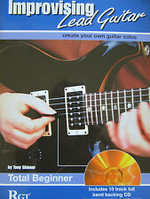 IMPROVISING LEAD GUITAR by Tony Skinner Total Beginner Level Book and CD pub.RGT
