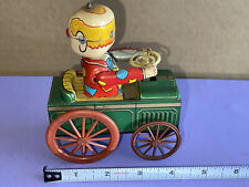 Vintage 1950s Made in Japan YONE Tin Litho Clown Car excellent and working