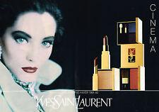 PUBLICITE ADVERTISING 025  1991  YVES SAINT LAURENT  maquillage CINEMA ( 2p)