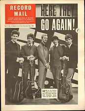 RECORD MAIL NEWSPAPER 1964 06 JUNE the hollies/yardbirds/adam faith for page pic