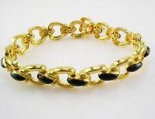 """Joan Rivers Enamel Chain Link Bracelet  7 1/2"""""""
