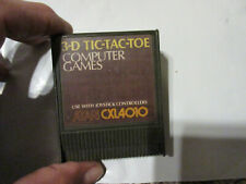 ATARI 400/800 3-D TIC-TAC-TOE CARTRIDGE TESTED