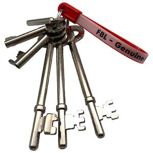 FB Key Set Fireman ORIGINAL Master SET 1 =FB1+FB2+FB4+fb+fb11+fb14 Set of 6