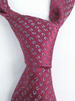 """Charvet Place Vendome Red Blue Pattern Silk Luxury Paris 59.5"""""""