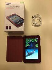 Samsung Galaxy Tab 2 GT-P3113 8GB, Wi-Fi, 7in - Garnet Red W/ 8gb Sd Card & Case