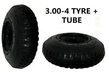 3x Trolley Tyre 3.00 - 4 (260 x 85) with INNERTUBE (4 PLY) Sack Truck Bent Valve