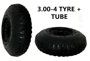 Trolley Tyre 3.00 - 4 (260 x 85) with INNER TUBE (4 PLY) Sack Truck Bent Valve
