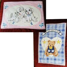 New listing Double Flannel Blanket Cotton Throw Babys Best Friends Bear Reverse Print Puppys