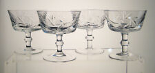 """PINWHEEL SEARS CRYSTAL Champagne Sherbets 4"""" SET OF FOUR"""