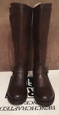NEW WOMEN FRYE CLASSIC VERONICA SLOUCH DARK BROWN LEATHER TALL BOOTS SZ 8