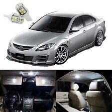 12 x Xenon White LED Interior Light Package Kit Deal For Mazda 6 2009 - 2013