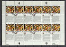 UNO New York 1993 gestempelt MiNr. 651-652  Bogensatz  Menschenrechte