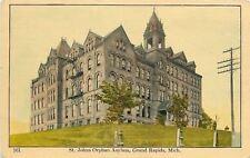 Grand Rapids Michigan~Hilltop St. Johns Orphan Asylum~Open Belltower 1910