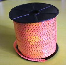 0,50€/m 5 m Pailettenband apricot 2 iris flach 6 mm Pailetten Bauchtanz Karneval