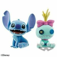 NEW Disney Characters Fluffy Puffy-Stitch & Scrum-Figure All 2 types set