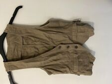 Ladies size 10 topshop waistcoat, linen blend khaki/brown