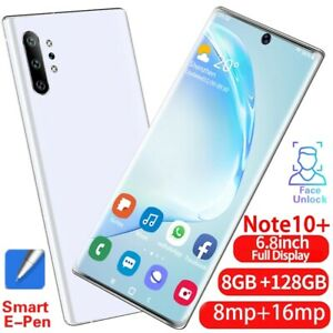 Smartphone Note10+ 6.5 Inch Screen 3GB RAM 128GB ROM Android 9.1 Unlocked Mobile