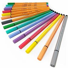 Stabilo Point 88 Fineliners + Stylo 68 Feutres – Lot de 16 couleurs pastel