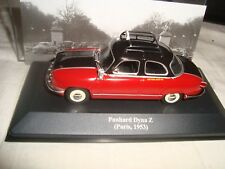 Miniature panhard dyna z taxi paris 1953 1/43 en boite plexi ixo