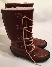 Vintage Cherokee Brown Leather Boots in Womens Size 5 - GENTLY WORN!