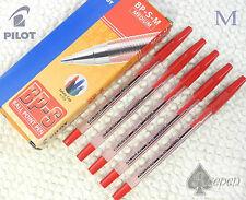 12pcs Pilot BP-S-M 1.0mm Medium ball point pen RED ink