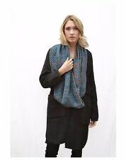 Blue Snood beaded soft touch knitted scarf