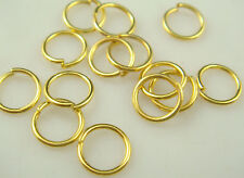 HOT 200Pcs 8mm size GOLD Plated Open Jump Ring Connector Jewelry Finding w8js